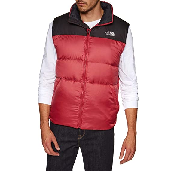 1afbb8740 The North Face Men's Nuptse III Vest - Rage Red/TNF Black, Small ...