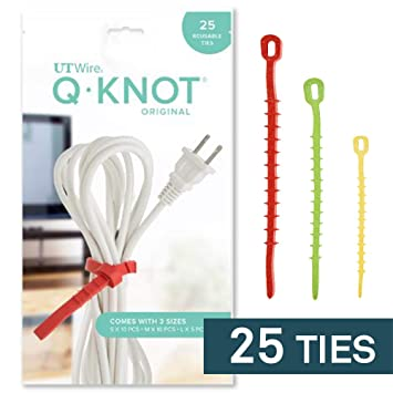 af596f52b900 Q Knot Reusable Cable Tie, 25-Piece Pack: Amazon.ca: Home & Kitchen