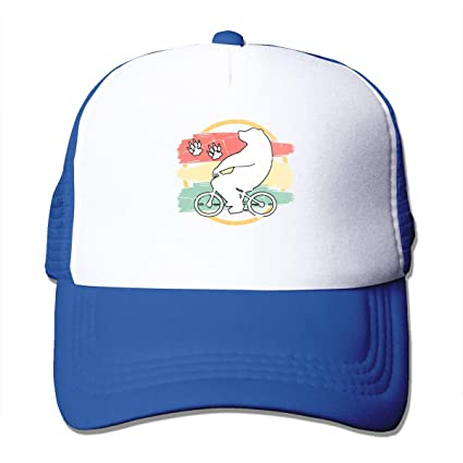 Polar Bear Bike Summer Mesh Gorra de béisbol Ajustable Trucker Hat ...