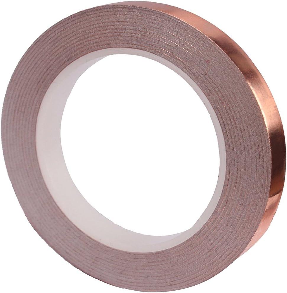 repellente per lumache fai da te occasioni 50mm x 20m 50 mm x 20 m Fastar rame nastro schermatura con adesivo conduttivo per chitarra elettronica riparazioni vetrate
