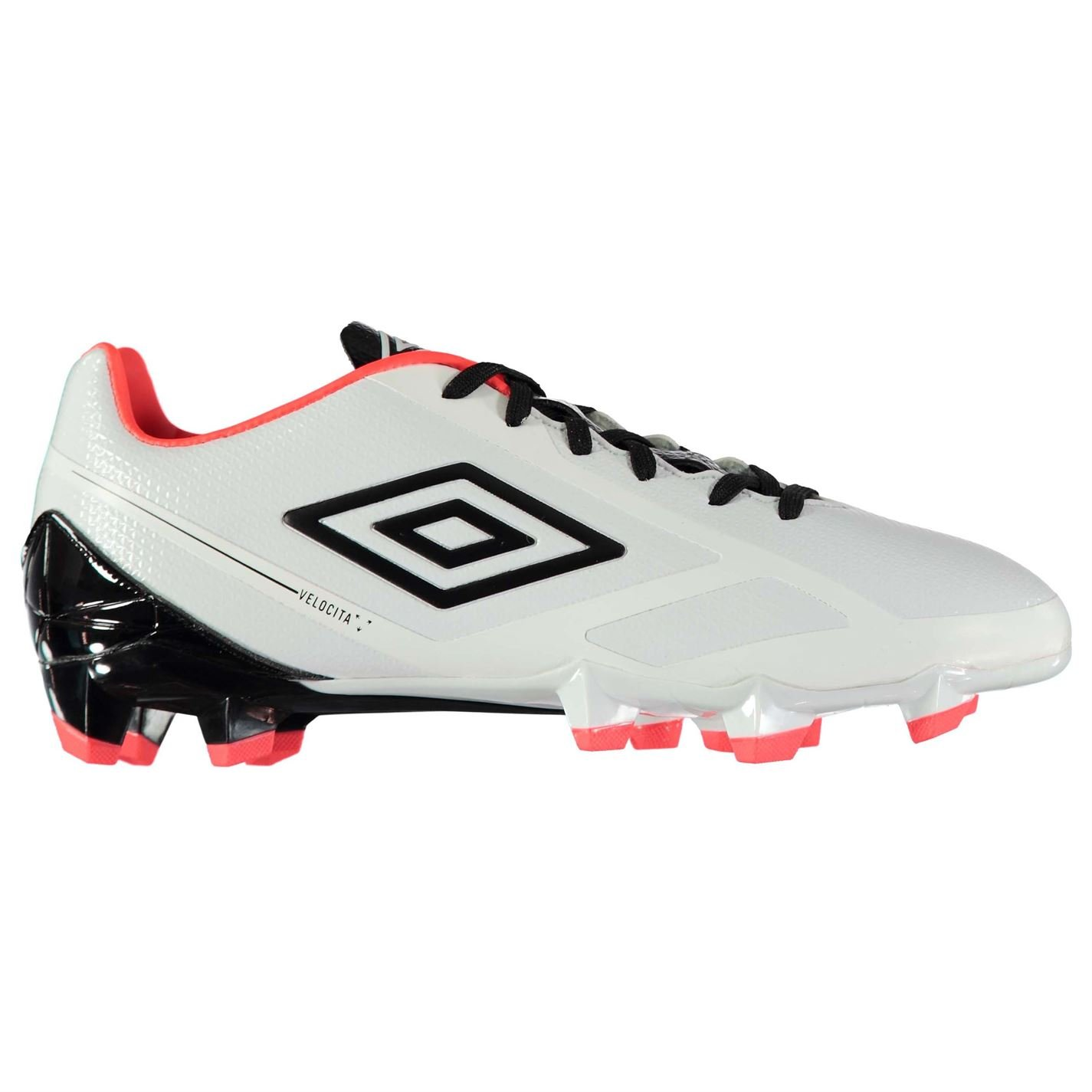 da3e0bb5caae Umbro Mens Velocita 2 Premier FG Football Boots Firm Ground Lace Up Padded  Ankle White Black Cor UK 8 (42)  Amazon.co.uk  Shoes   Bags