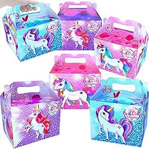German Trendseller® 12 x cajas unicornio de cumpleaños ┃con ...