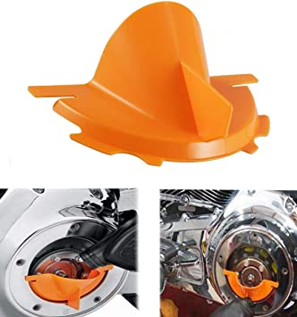 Rebacker Motorcycle Primary Case Plastics Primary Oil Fill Funnel for Harley Touring Trike Models 2006-2017 Dyna 2007-2018 Softail