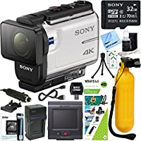 Sony FDR-X3000R 4K Action Camera with Live View Remote + Water Action Kit & Accessory Bundle