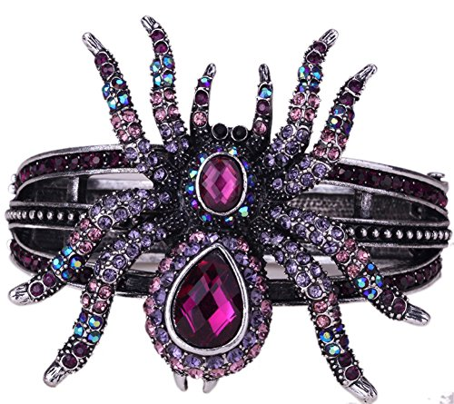 Angel Jewelry Women's Crystal Spider Bangle Bracelet Halloween Party Gifts ()
