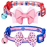 Blueberry Pet Pack of 2 Cat Collars, Girl Power