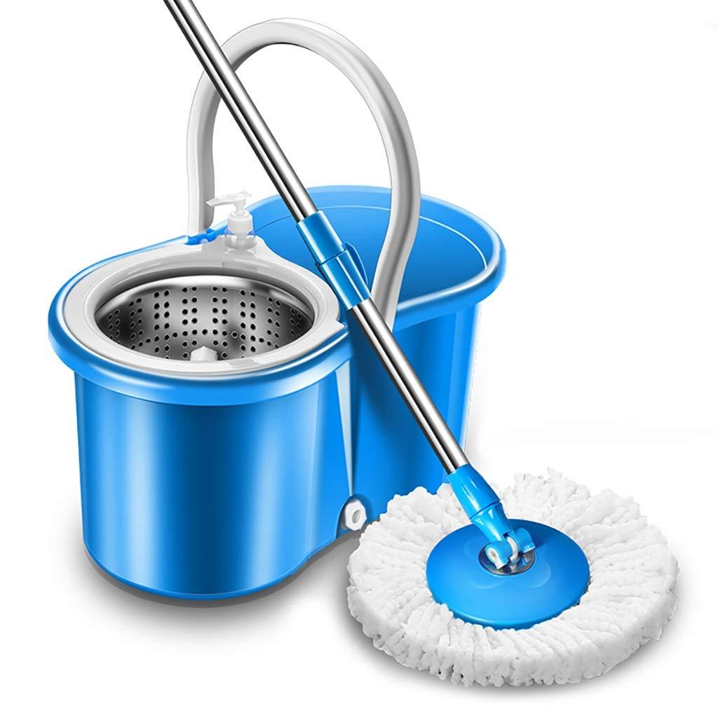 フロアモップワイパー 回転モップ、360°回転モップヘッド、ハンドフリー洗濯、洗濯と乾燥、(マイクロファイバー) B07L8DSDQY