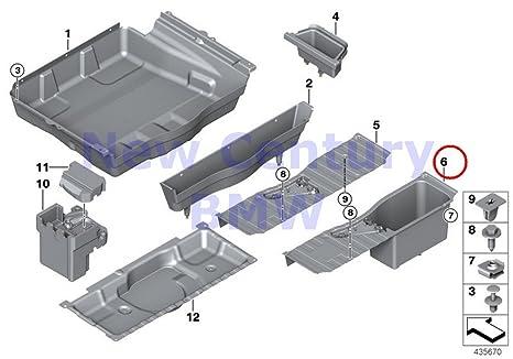 BMW auténtica superficie de almacenamiento tronco suelo recargable equipaje compartimento para X5 35dx X5 35i X5