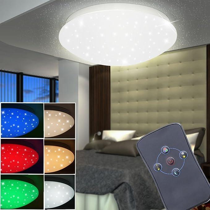 LED Deckenleuchte Brighton Farbwechsler Sternenhimmel Wohn
