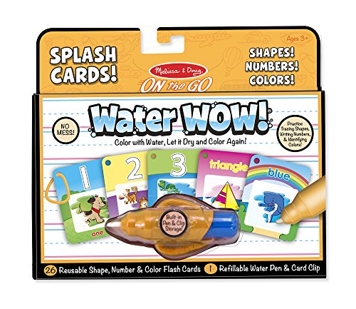 Melissa & Doug On the Go Water Wow! Reusable Water-Reveal Cards - Shapes, Numbers, ()