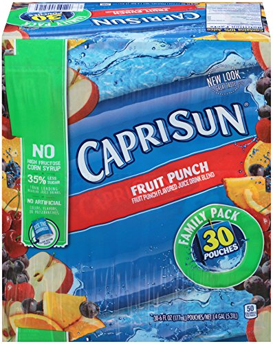 Capri Sun Fruit Punch, 30 pack (180 Baseball)
