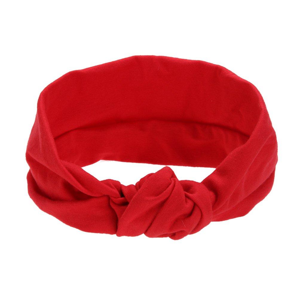 Domybest Kids Baby Bowknot Headband Girls Turban Hairband Soft Stretchable Hair Accessories