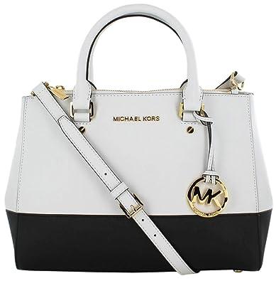 e55efa111d6e88 Michael Kors Sutton Medium Satchel Saffiano Leather Handbag: Amazon.co.uk:  Shoes & Bags