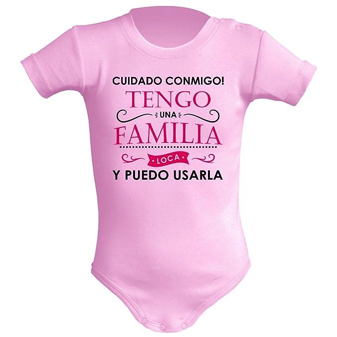 Body bebé unisex. Tengo una familia loca. Regalo original. Body bebé divertido. Body friki. Manga corta.: Amazon.es: Ropa y accesorios