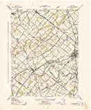 Pennsylvania Maps |1943 Doylestown, PA USGS Historical Topographic Map |Fine Art Cartography Reproduction Print