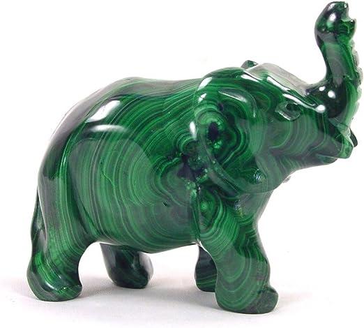 Malachite Elephant Carving