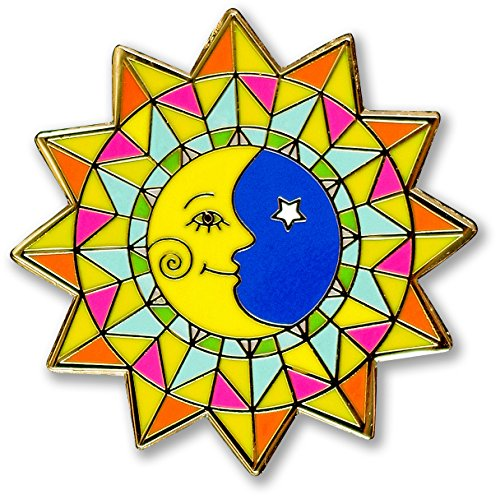 Sun & Moon-Hard Enamel Pin (Cloisonne Pin)