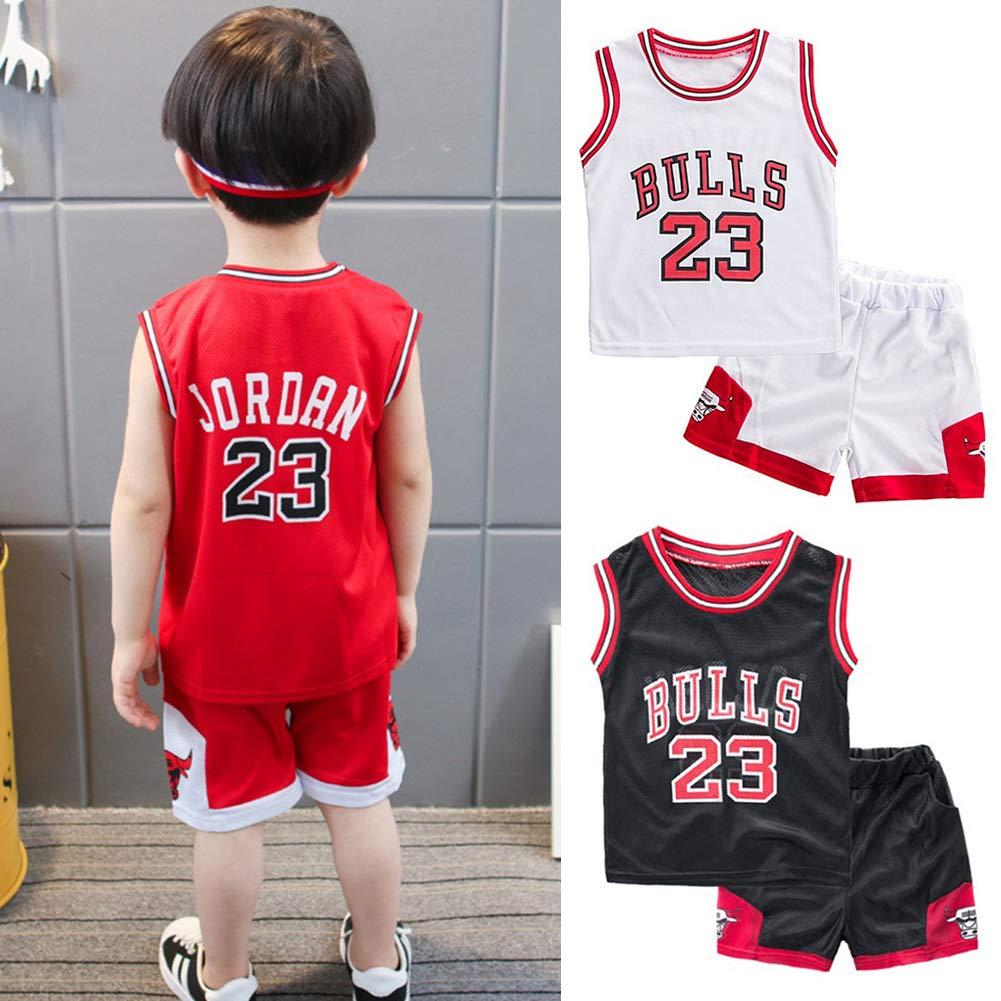 Neborn Kleinkind junge sommer kleidung kinder basketball uniform baby m/ädchen trainingsanzug 2 st/ücke set Kinder jungen m/ädchen sport kleidung set outfit