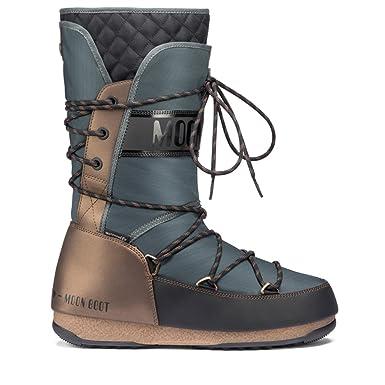 f9970932cf7926 Moon Boot We Monaco Flip WP Womens Boots 38 EU Black Grey Bronze   Amazon.de  Schuhe   Handtaschen