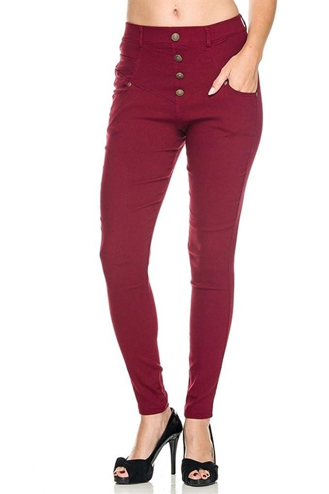 988962e456ea 2LUV Women s Tailored Millenium Skinny Dress Slacks