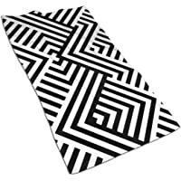 With Striped Black White Diagonal Lines (Zigzag, Chevron) Rhomboid Hand Towel Ultra Soft Highly Absorbent Guest Towel…