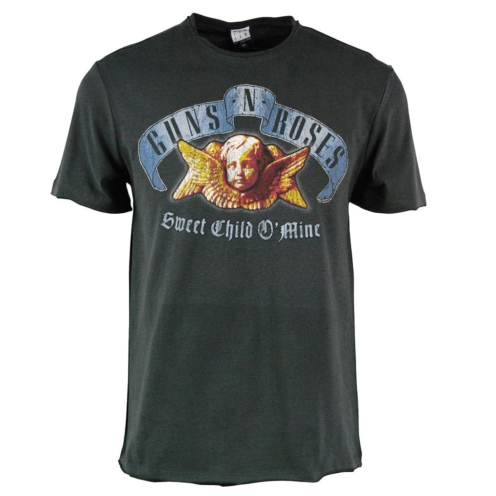 Amplified Camisa De Guns N Roses - Sweet Child O Mine Hombres O Camiseta De Mina Carbón: Amazon.es: Ropa y accesorios