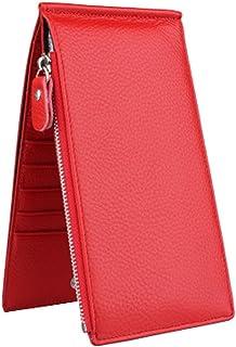 Sac de carte de crédit porte-monnaie avec 18 fentes de cartes, Rouge Blancho Bedding