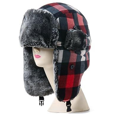 03b8b63a1fb Outdoor hat female winter Lei Feng cap men and women Winter warm winter hat