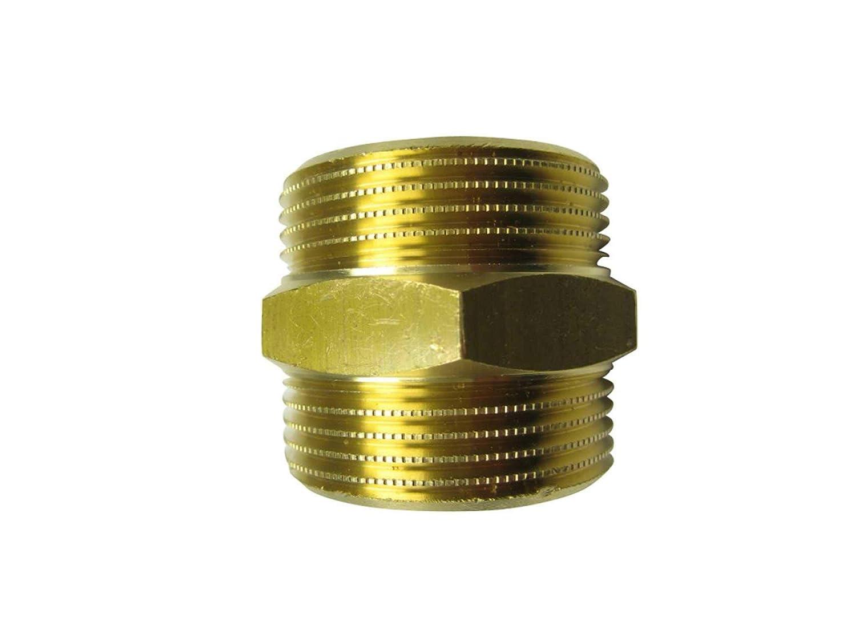 Doppelnippel flachdichtend Gr/ö/ßen von 1//2 bis 21//2 f/ür Solar und Edelstahlwellrohr Gr/ö/ße:DN12-1//2 Zoll