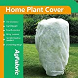 Agfabric 1.5oz Fabric Extra Large Plant Cover and Garden Fleece for Winter Frost Protection,Insect Barrier (63''x75'')