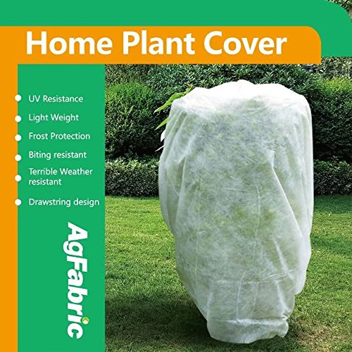 Agfabric Warm Worth Frost Blanket - 0.95 oz Fabric of 72''x72''x12'' Shrub Jacket, 3D Cube Plant Cover for Frost Protection,12 pack by Agfabric (Image #1)