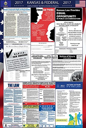 2017 Kansas and Federal Labor Law Poster Laminated