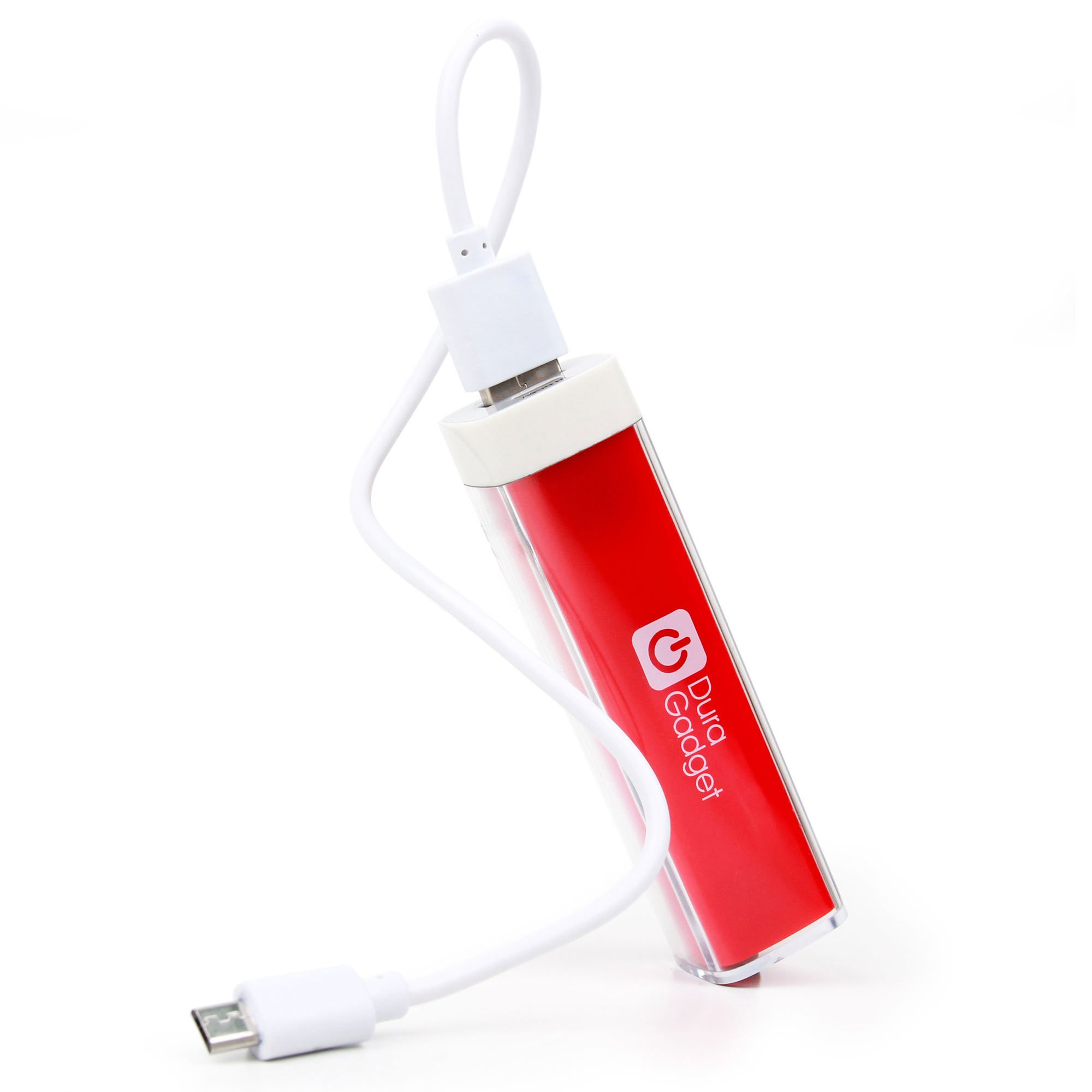 DURAGADGET High Capacity Universal Power Bank in Bright Red - Compatible with Leapfrog LeapPad, Explorer, Platinum, Epic, Leapster Tablets