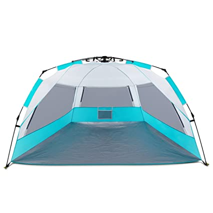 Easy Up Beach Tent ALPRANG Portable Anti UV Beach Shelter Quick Sun Tent Shade with  sc 1 st  Amazon.com & Amazon.com: Easy Up Beach Tent ALPRANG Portable Anti UV Beach ...