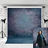 Kate 5x7ft Abstract Blue Backdrop Retro Photographer Photo Texture Background for Portraits Shoot
