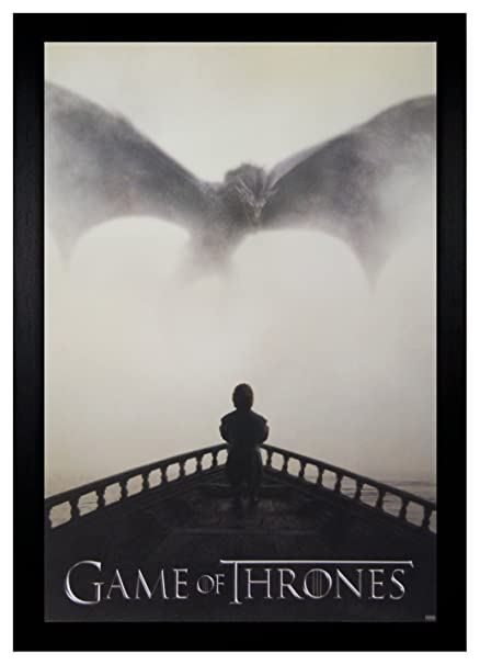 Amazon.com: Game of Thrones Tyrion Facing A Dragon 24x36 Framed ...