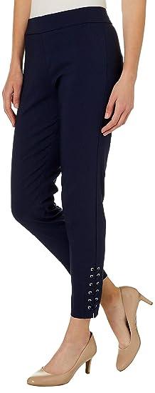 b0b17313a5cd6 Zac   Rachel Womens Lace-Up Hem Pull On Pants at Amazon Women s Clothing  store