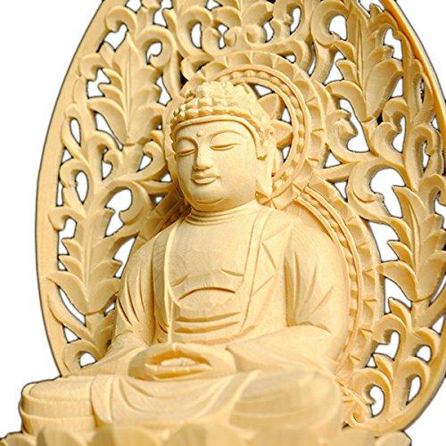 仏縁堂ブランド:仏像総檜六角唐草光背釈迦如来2.0寸 B00DJ2VAP0