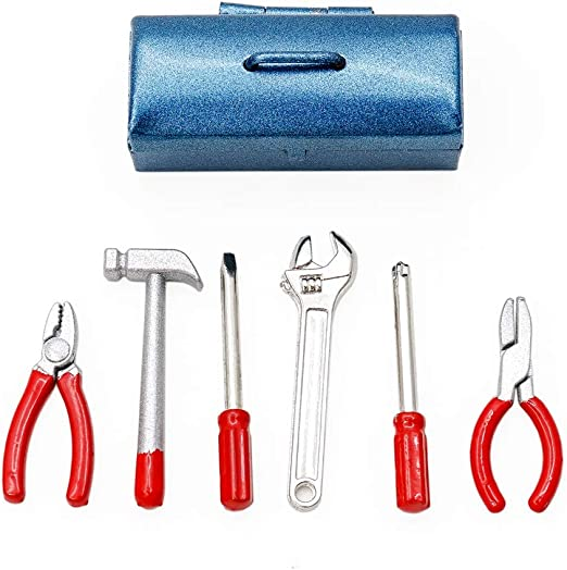 5pcs 1:12 Scale Miniature Metal Hand Tools Set Dolls House Accessories WTUS TY