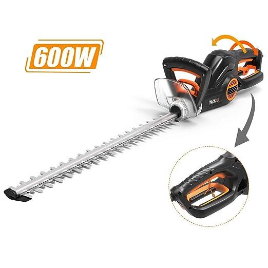 Tacklife cortasetos eléctrico, 600 W, 550 mm Longitud de corte ...