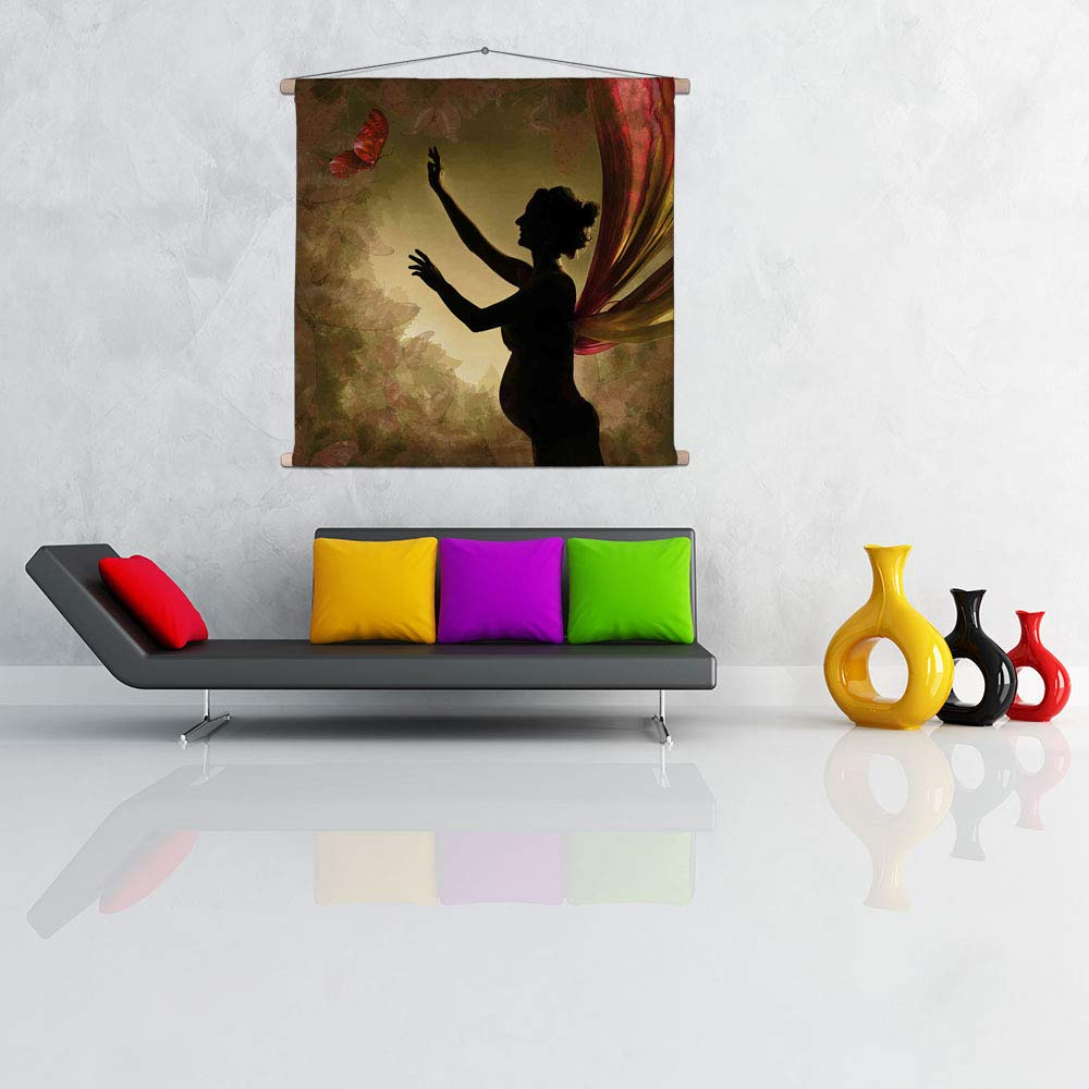 Buy Artzfolio Pregnant Woman with Wings Canvas Painting