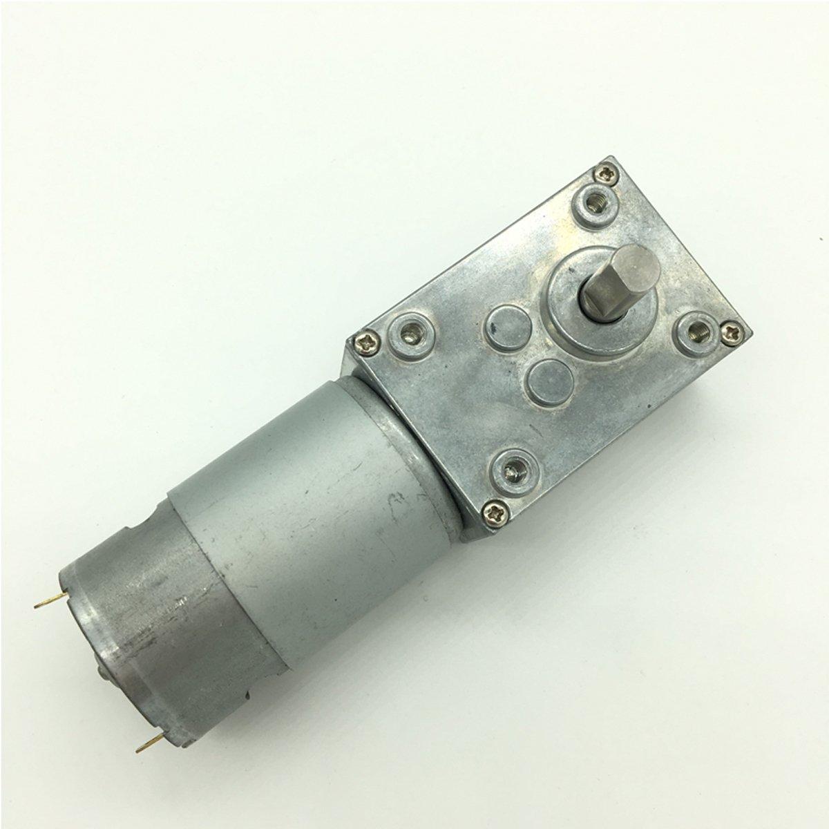 Bringsmart DC Worm Gear 24V High Torque Self-lock Motor (A58SW-555 24V 16rpm)