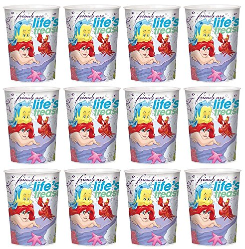 Disney Lot of 12 Little Mermaid 16oz Party Plastic Cup ~Party Favor (Little Mermaid Cups)