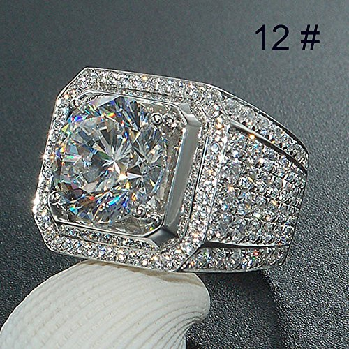 hion Jewelry Accessories Brilliant Natural White Sapphire Di Ring Under 5 Dollars Valentine's Day Gifts for Girlfriend Boyfriend (US Size) ()