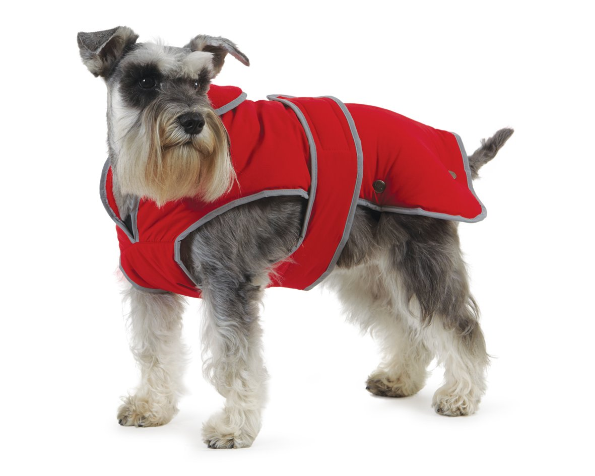 Ancol Muddy Paws Stormguard & Fleece Lining Coat Red Extra Extra Large