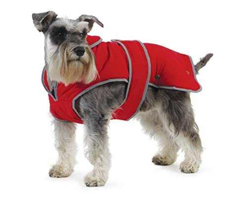 Muddy Paws Stormguard & Fleece Lining Coat Red Large