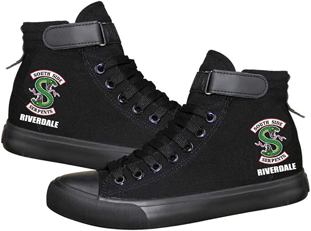 Riverdale Serpents Jughead Cartoon Canvas High top Shoes Unisex Casual Flat