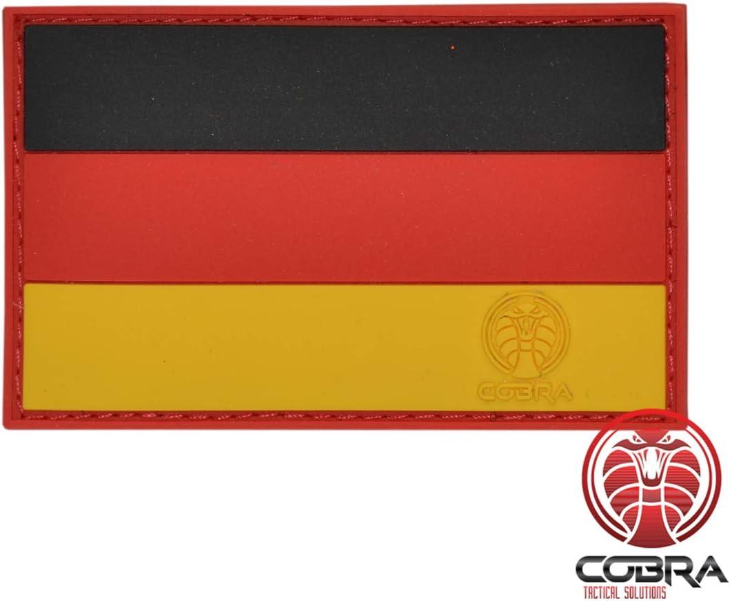 Cobra Tactical Solutions - Parche Militar de PVC Bandera de Alemania/Bandera de Alemania con Cierre de Velcro para Airsoft, Paintball, Ropa táctica y Mochila: Amazon.es: Amazon.es