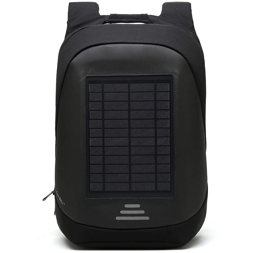 Lis-shan Mochila de Carga Solar con 2000Mah Panel Solar ...