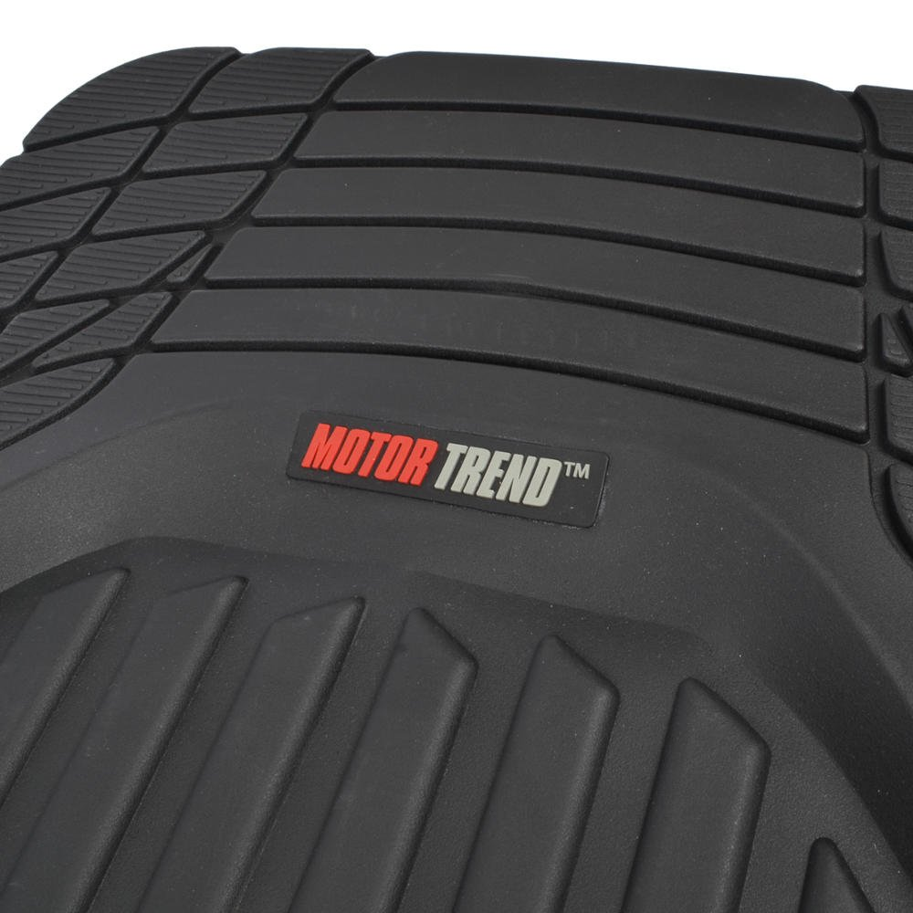 Rubber floor mats uk - Amazon Com Motor Trend Flextough Contour Liners Deep Dish Heavy Duty Rubber Floor Mats Black Automotive